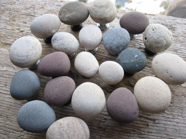 BEACH Stone Cabinet Knobs Stone Drawer Pulls CUSTOM ORDERS. $8.25 ...