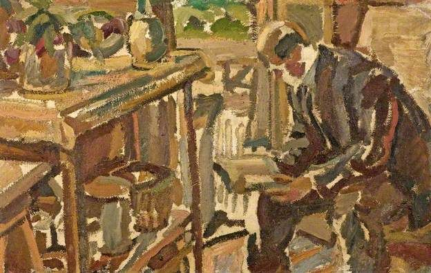 Homem lendo, s.d. Maurice Albert Loutreuil (França, 1885-1925) óleo sobre tela