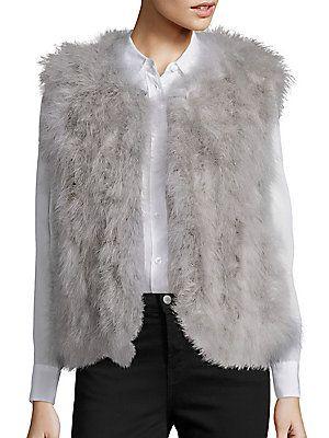 Pello Bello Fluffy Feather Vest