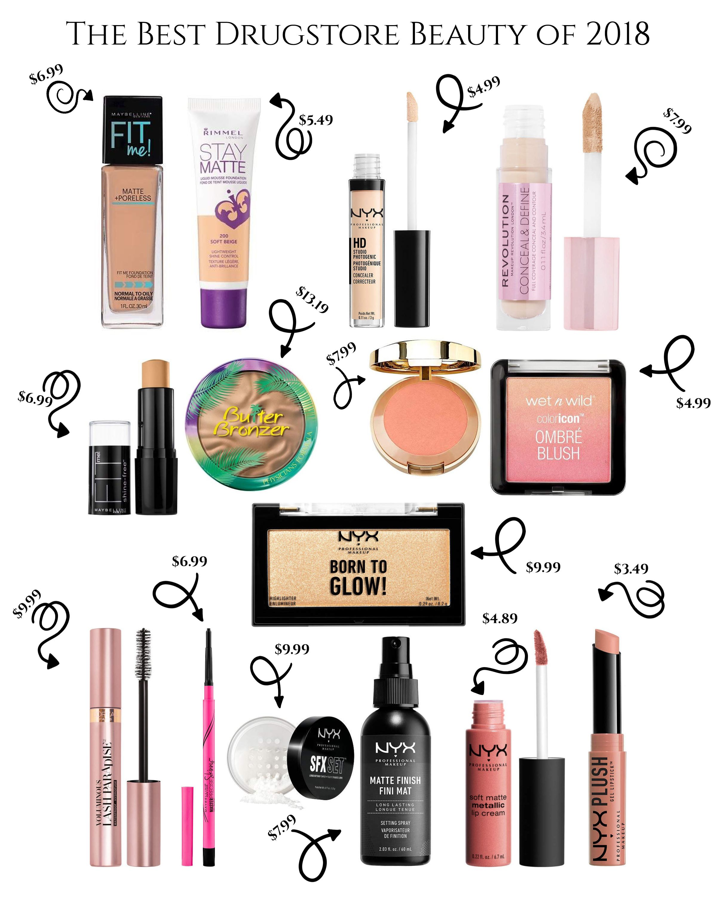 The Ultimate Drugstore Beauty Guide that highlight the