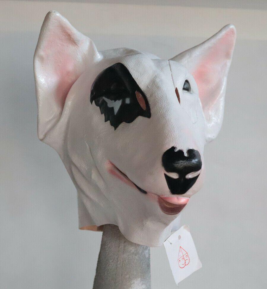 Budweiser Halloween 2020 Vintage 1987 SPUDS DOG Vinyl Halloween Mask France Mauritis Tag