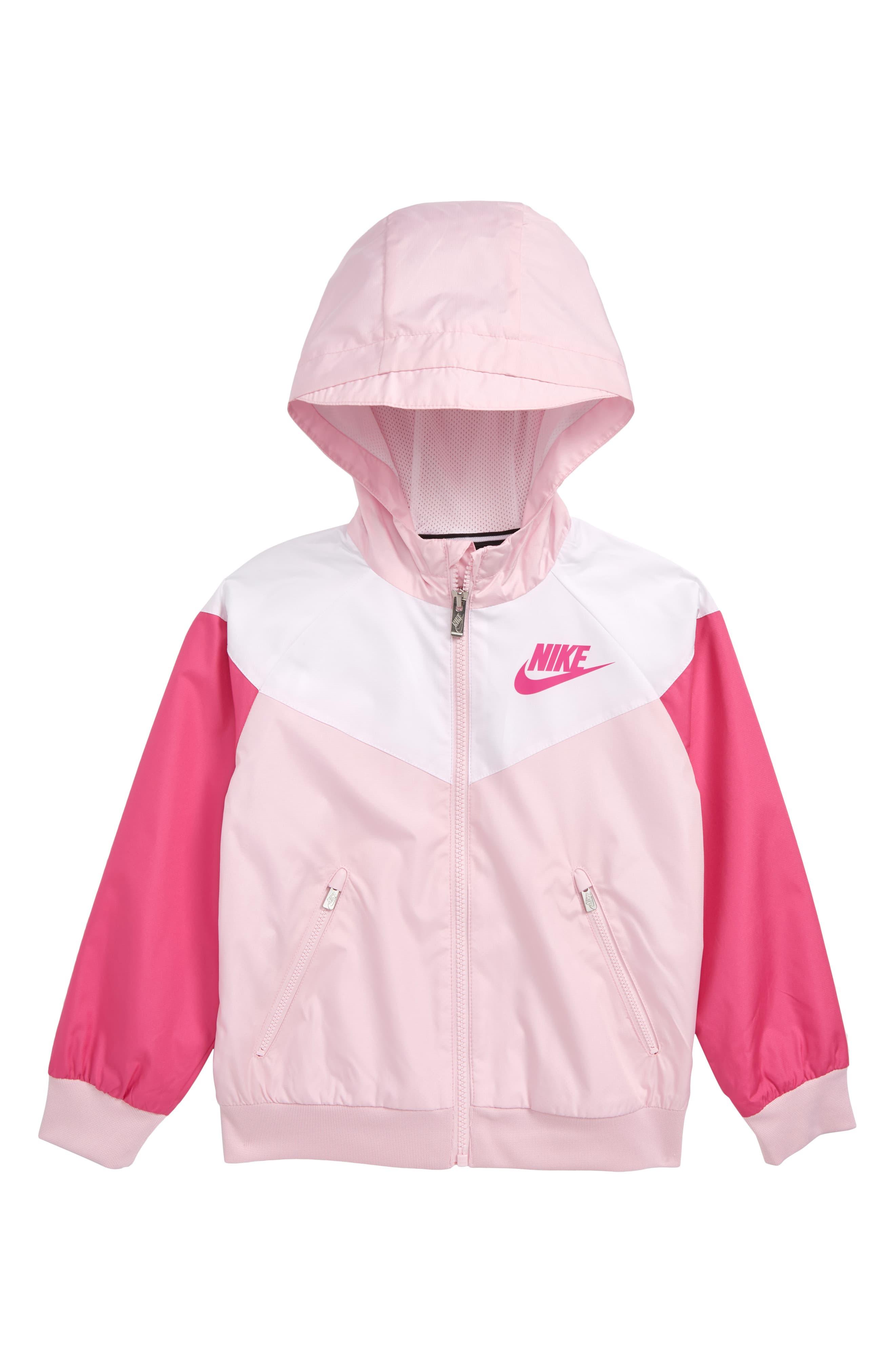 Baby Girls Pink Hooded Zip Up Top
