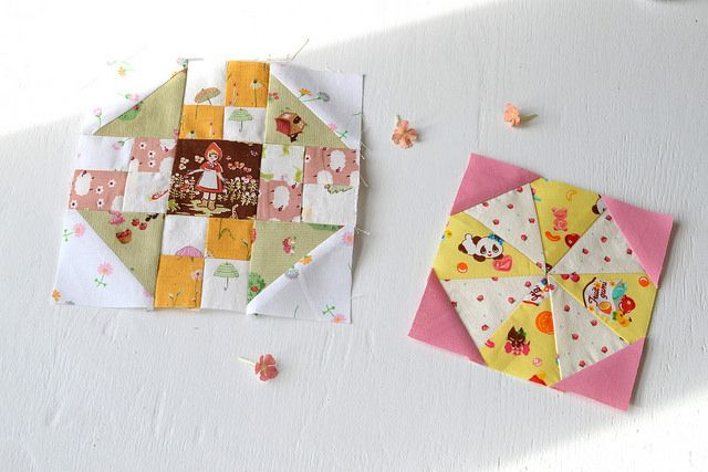 Cute blocks with sweet prints. kaliedoscope | by Lakumuki