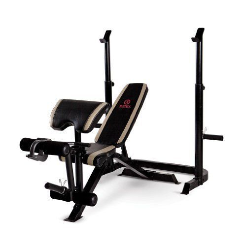 Home Gym Marcy Diamond Olympic Bench Exercise Fitness Sport Training Equipment Weight Benches Olympic Weights Adjustable Weight Bench