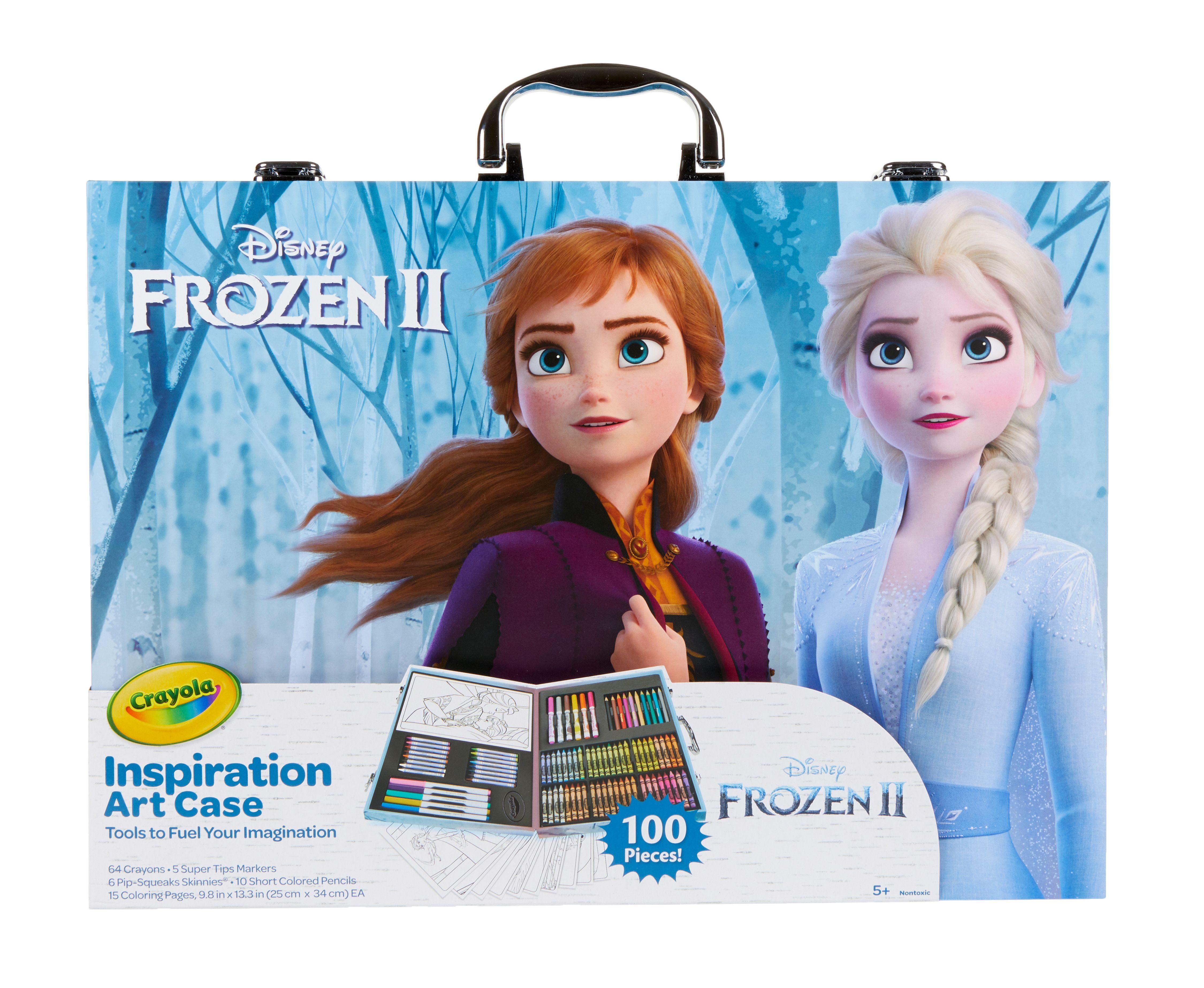 Crayola Frozen 2 Inspiration Art Case 100 Pieces Gift For Children Ages 3 Walmart Com Art Case Art Inspiration Frozen Art