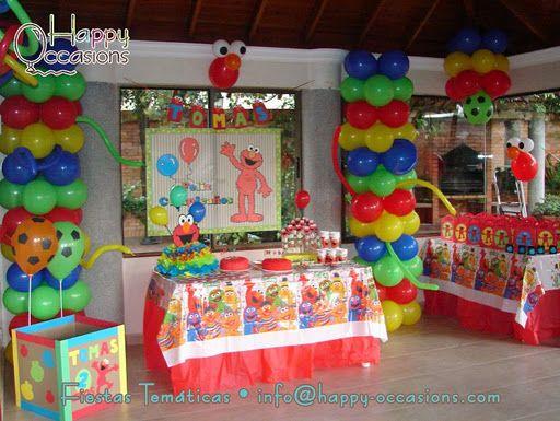 Decoracion Fiesta Elmo Nino Happy Occasions