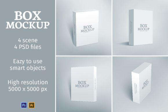 Download Software Packaging Box Mockup Box Mockup Business Card Logo Box Packaging