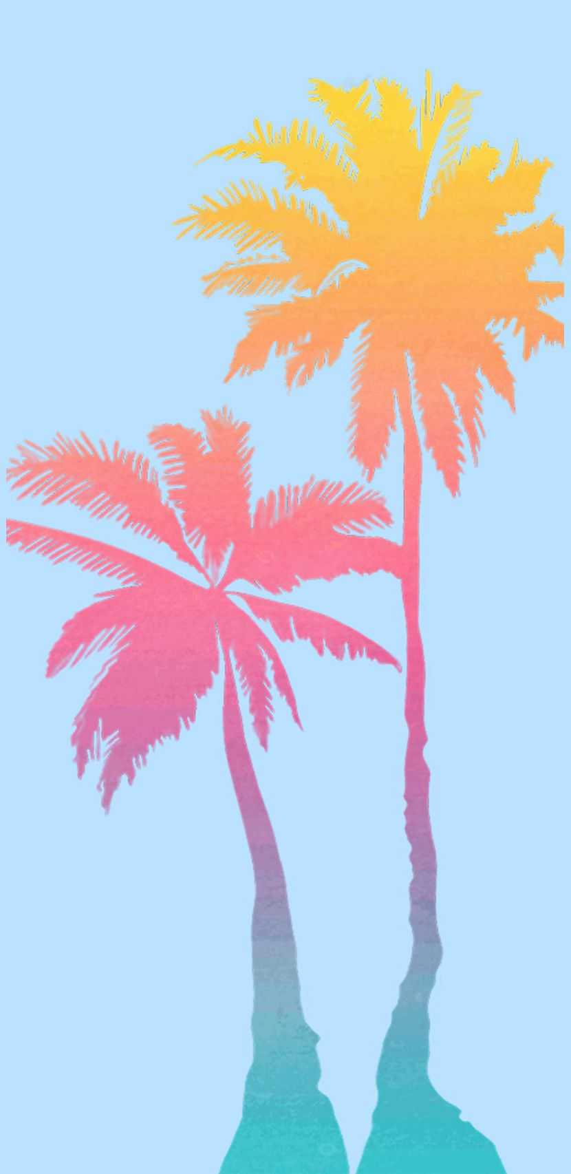 Palms Beach Tropical Summer Summer Vibes Pastel Colors