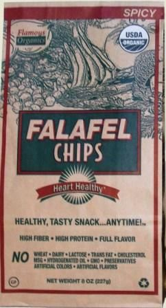"""Spicy falafel chips! Stoopid delicious!!!"" #falafel #chips #flamous @Everyday Health"