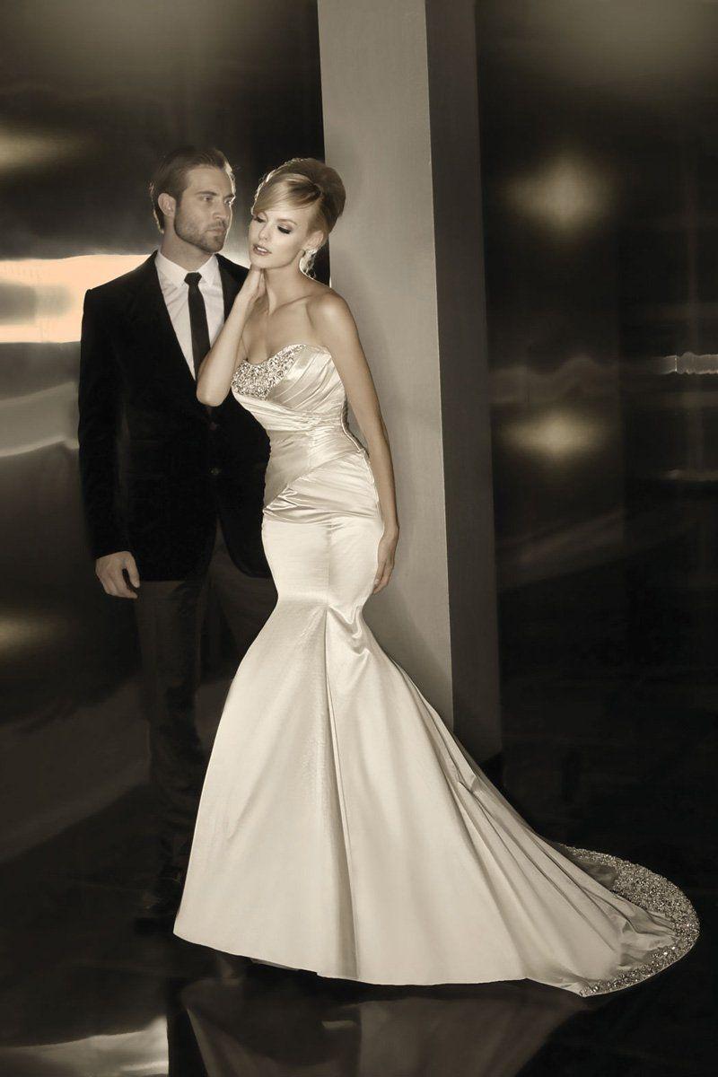Classic hollywood glam ivory white to beading