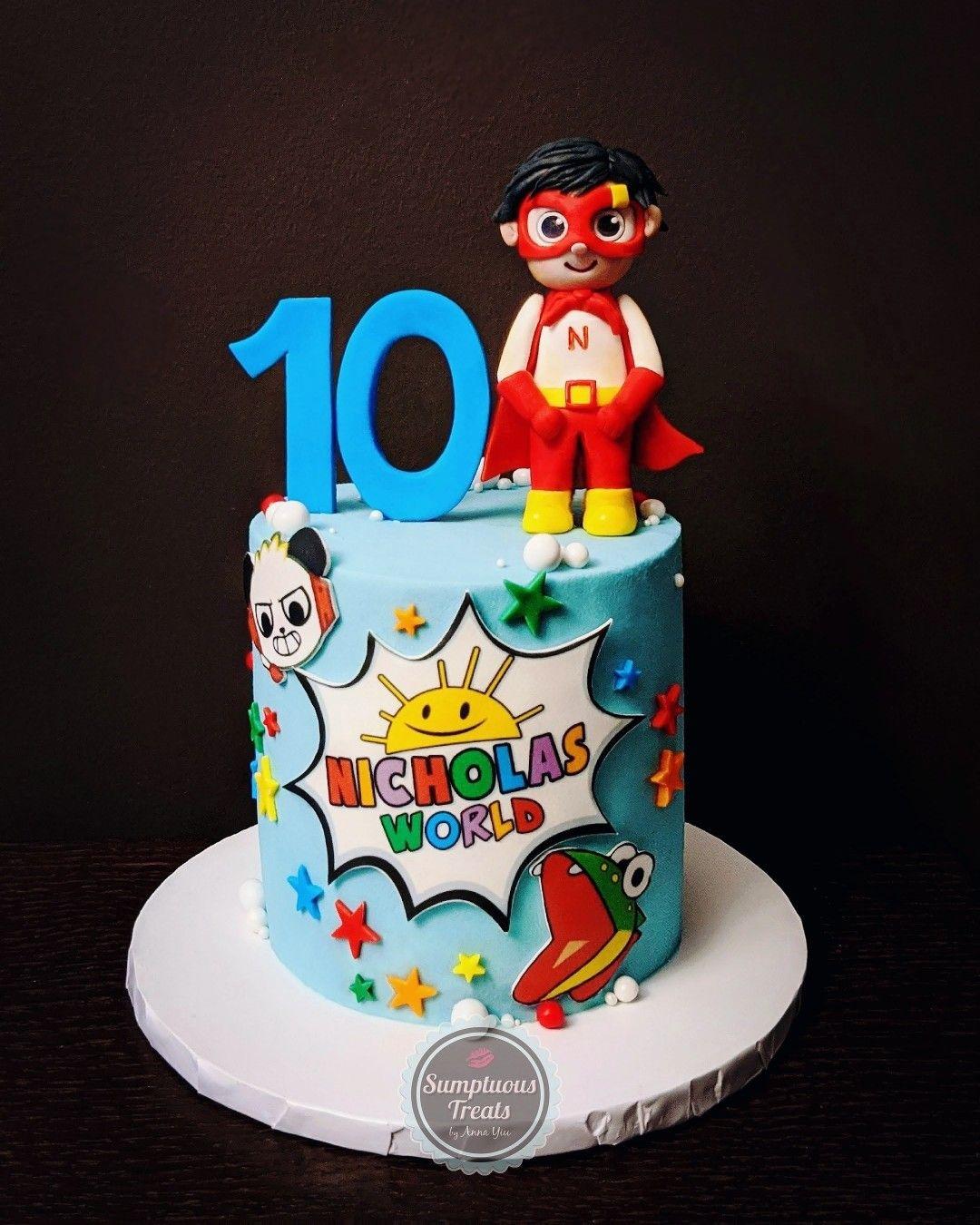 Ryan's World Inspired Birthday Cake ryansworldcake
