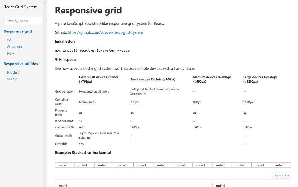React Grid System | Web design | Grid system, Grid y Web design