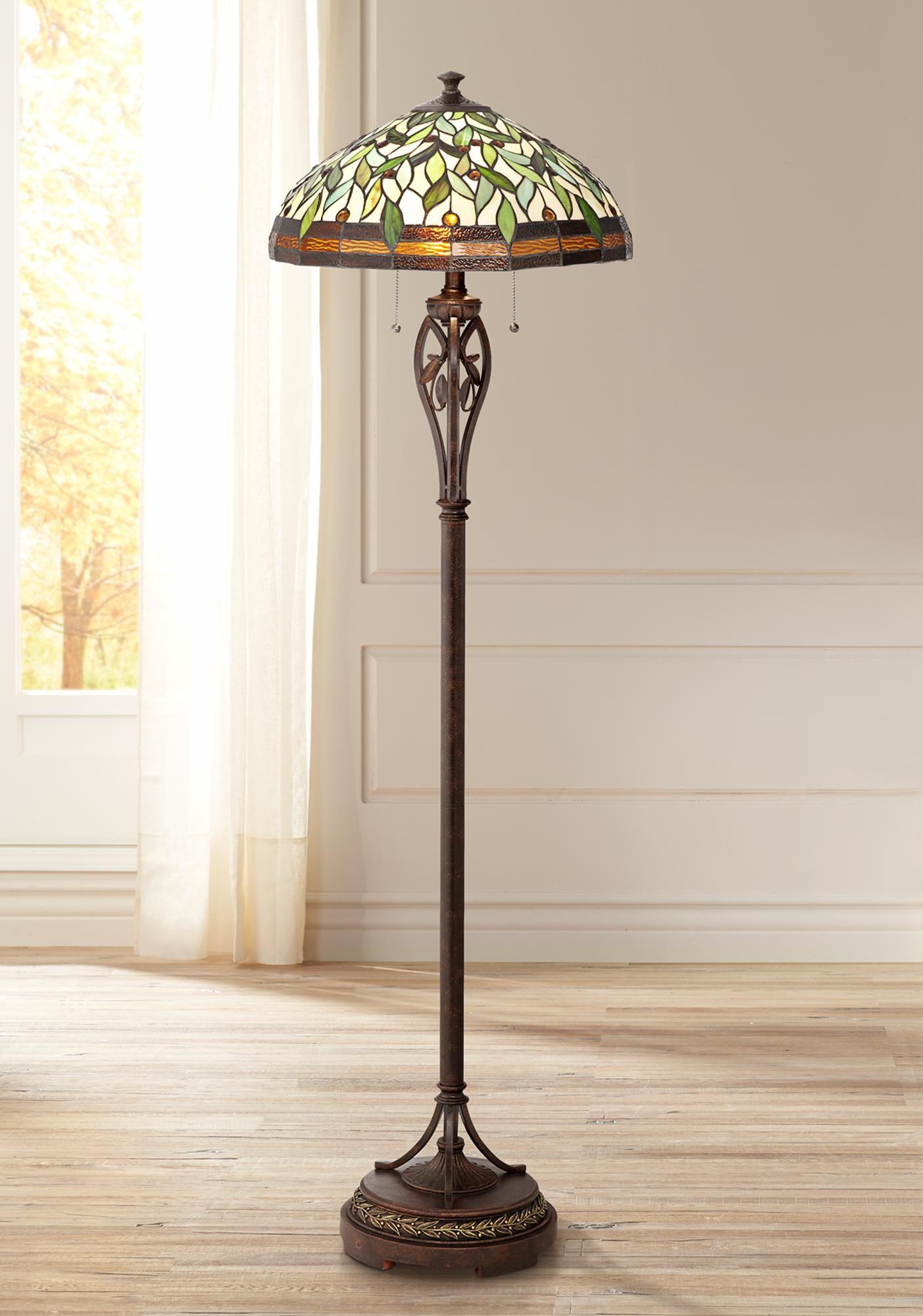 Leaf And Vine Ii Tiffany Style Floor Lamp Tiffany Style Floor