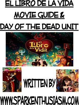 This movie packet includes everything you could ever possibly need to teach the movie, The Book of Life.  It includes cultural information, movie questions, true/false quiz, writing activities, video activities, and much more!