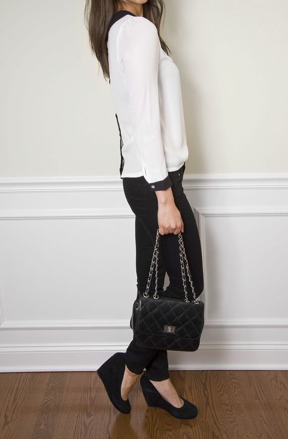 Chanel style.. On a budget! Blouse:$21     Purse: $22