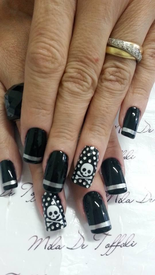 Nail Nails Nailart Nail Art Pinterest Nail Nail Skull Nails