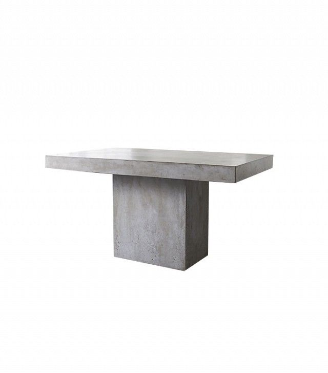 Starter Pieces Everyone Needs To Build A Dream Home Grey Dining - Cb2 concrete dining table