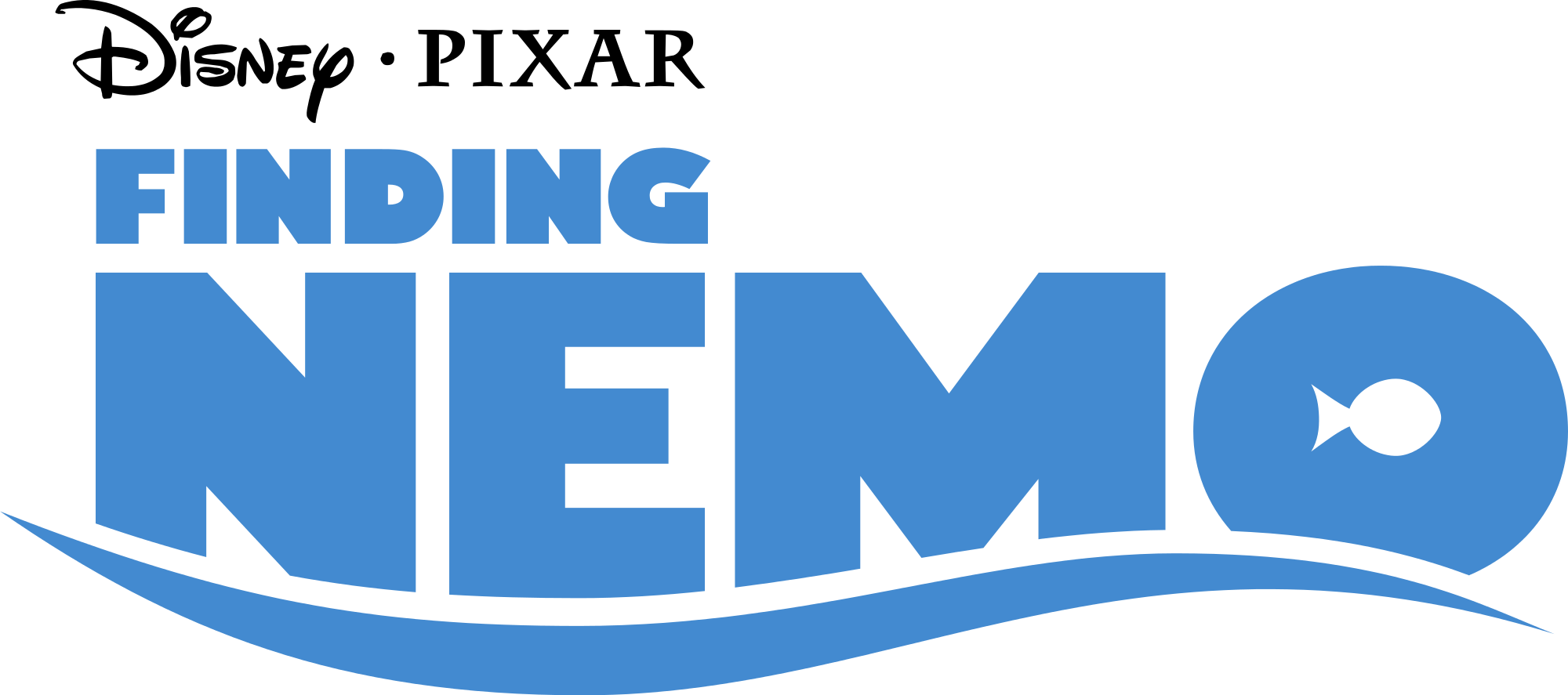 2000px Finding Nemo Logo Blue Svg Png 2000 887 Finding Nemo Nemo Disney Coloring Pages