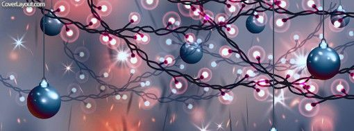 Christmas Lights and Ornaments Facebook Cover