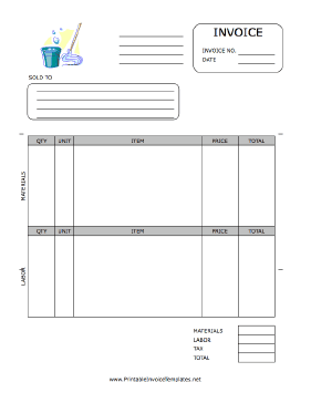 About Invoice Excel A Printable Invoice For Use By A Maid Housekeeper Or Janitorial  Invoice Template Word 2003 with Us Visa Receipt Number Excel A Printable Invoice For Use By A Maid Housekeeper Or Janitorial Firm  Featuring Sample Invoice Template Word Pdf