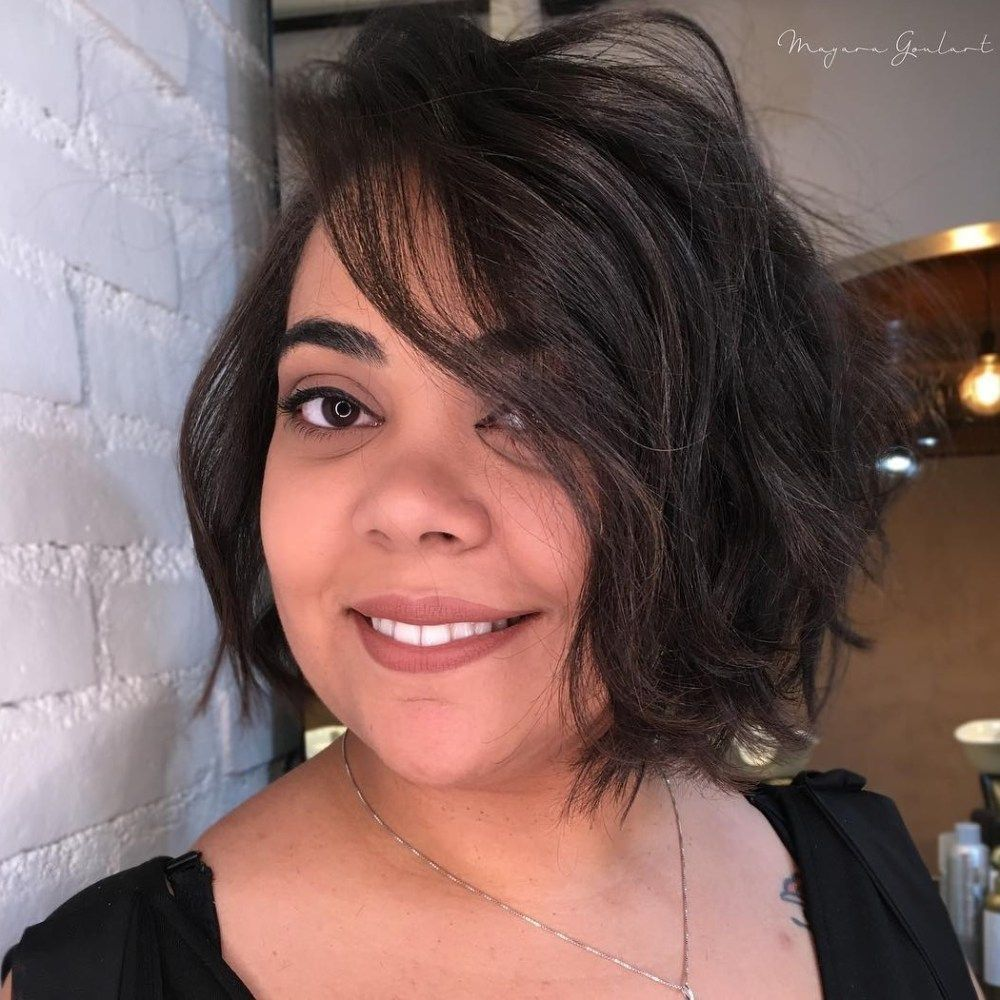 gorgeous shaggy hairstyle for round face hairstyles pinterest
