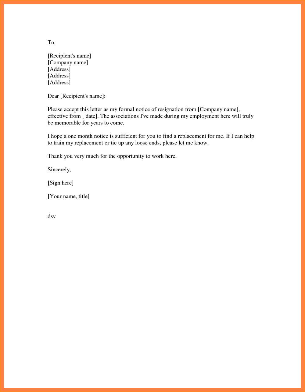 Letter Of Resignation Template Free Unbelievable Ideas Uk