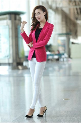 Solid Full Sleeve Cotton With Notched Collar Blazer