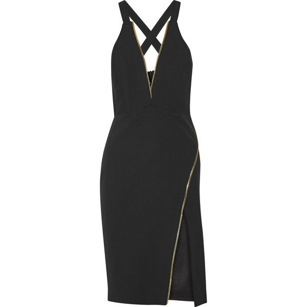 036aebabf Michelle Mason Zip-detailed stretch-crepe dress (2.140 BRL) ❤ liked ...