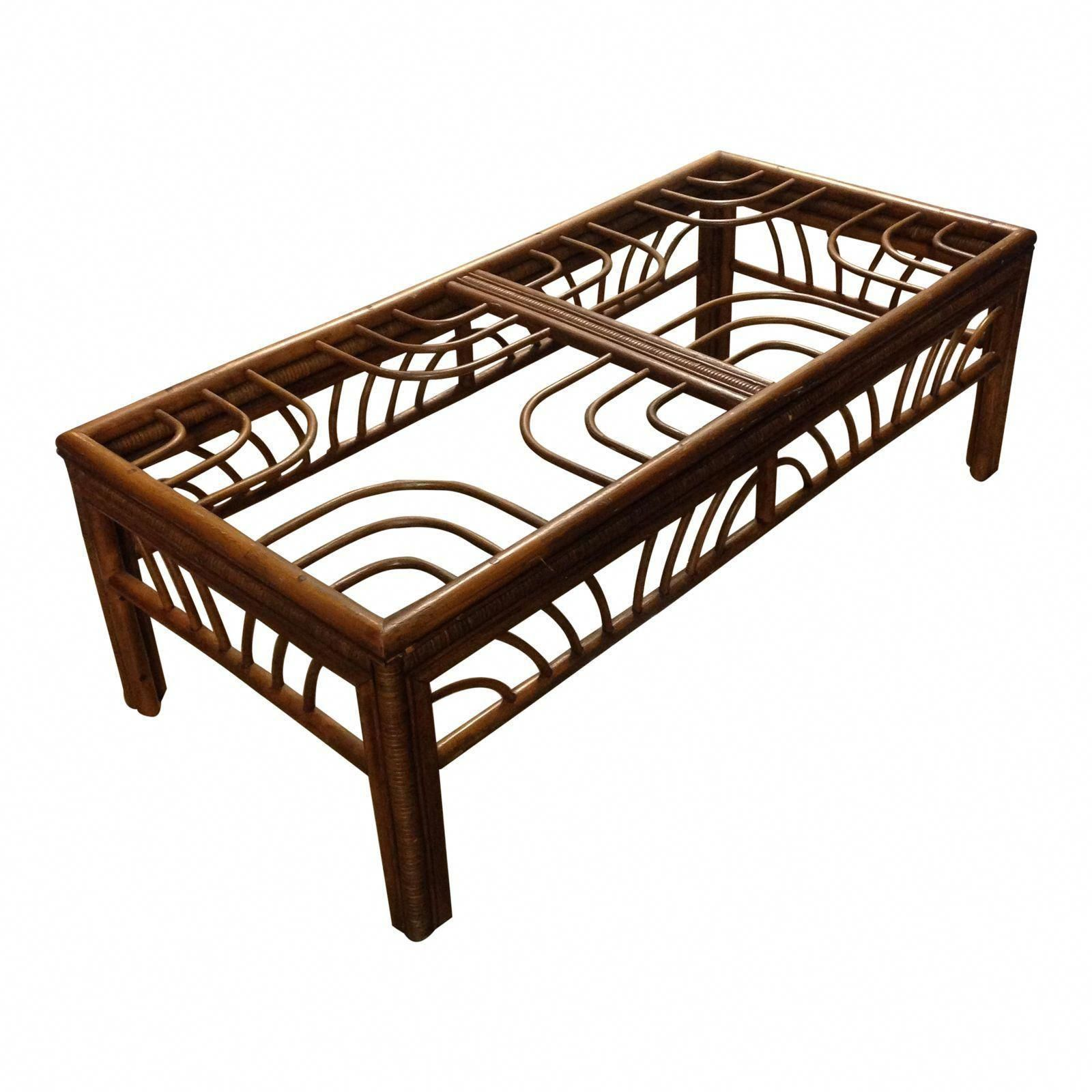 vintage bamboo rattan coffee table image 1 of 4 only 175 but rh pinterest com