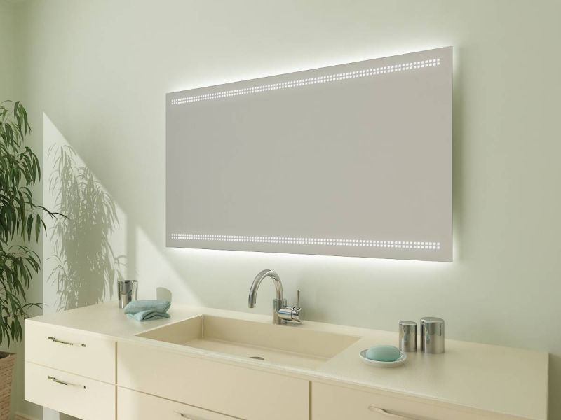 Beleuchteter Badezimmerspiegel Led Modell Barcelona F80l2h Von Spiegel21 Badspiegel Badspiegel Mit Led Beleuchtung Badezimmerspiegel