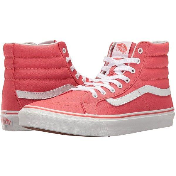 88298aadb04 Vans SK8-Hi Slim (Deep Sea Coral True White) Skate Shoes ( 60 ...