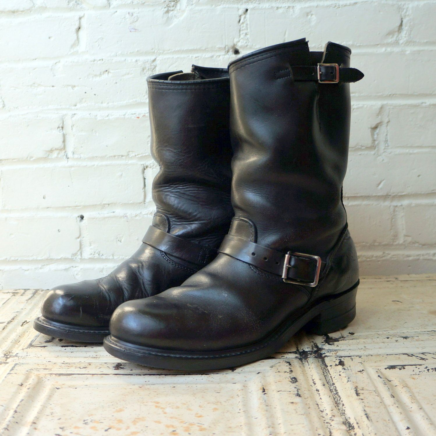 Outlaw Rider 1960s Vintage Engineer Boots Mens 8.5 EE Wide Biker ...