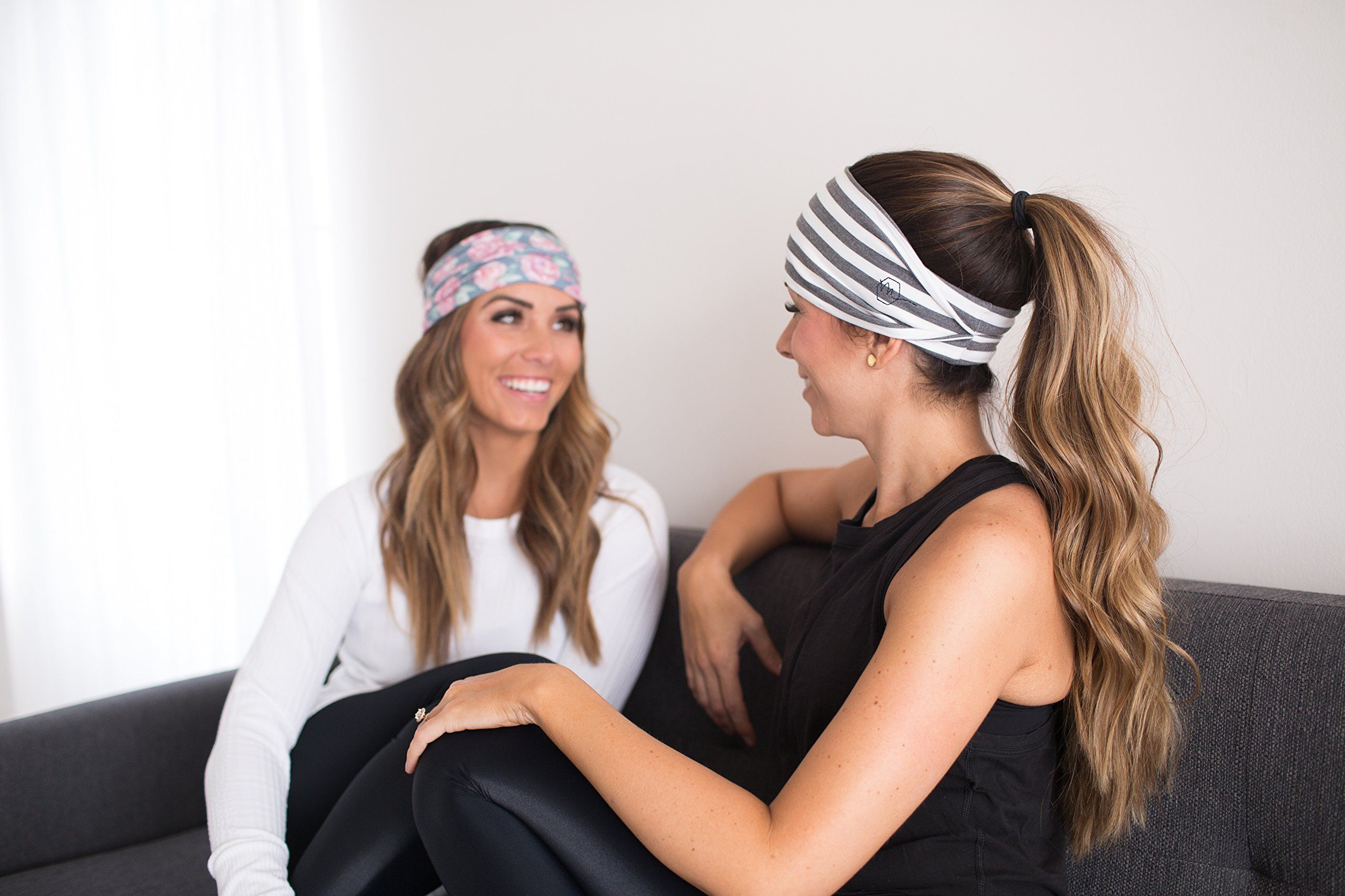 Maven Thread Womens No-Slip Sweat-Wicking Headband for Exercise and Yoga 2-Pack Wild