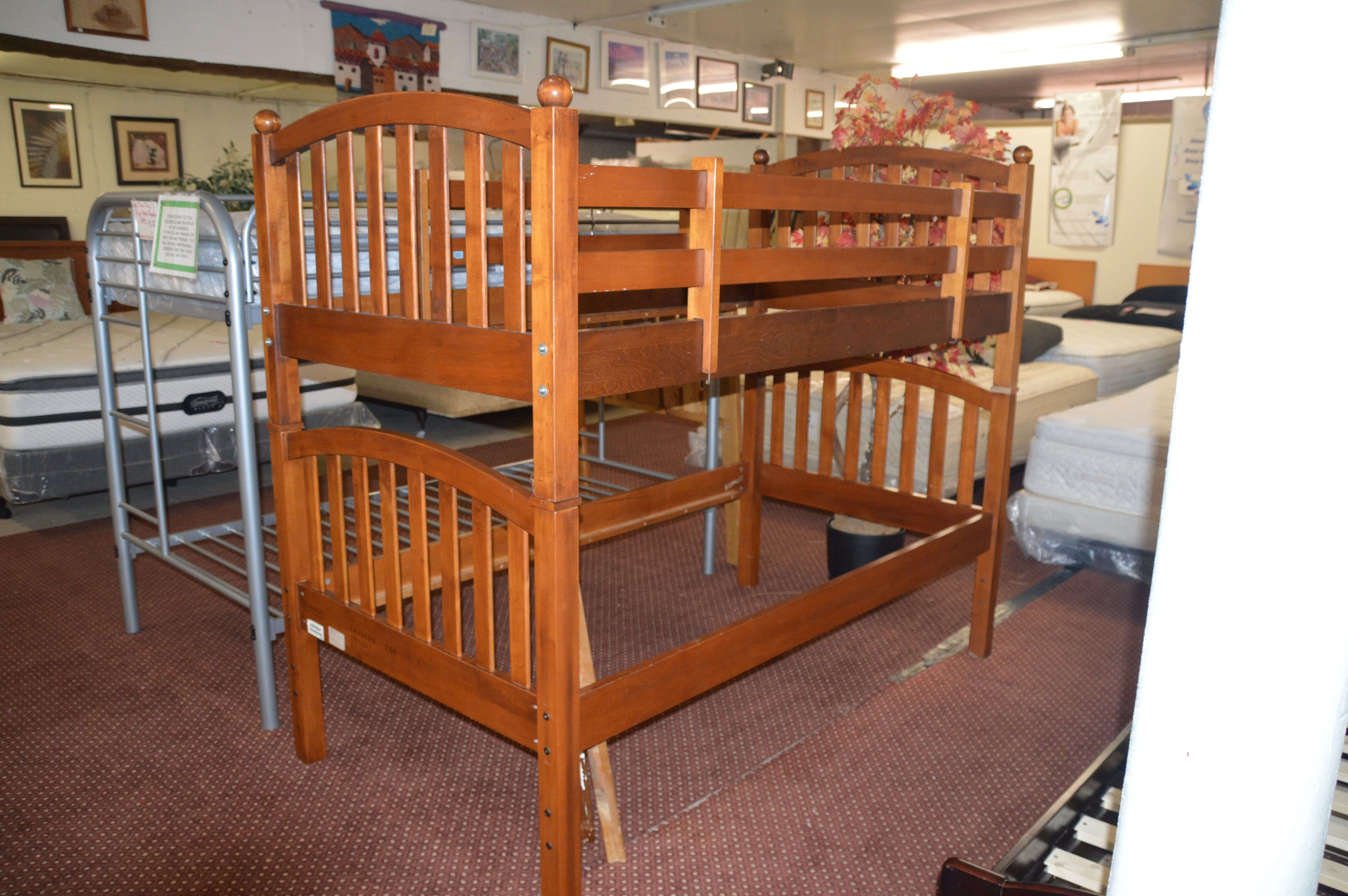 Ethan Allen Twin Twin Bunk-bed Frame  Bed, Twin bunk beds