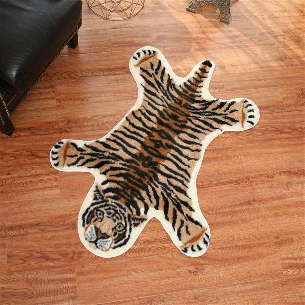 Tiger Print Rug 2 7 X 3 5 Feet Faux Fur Cowhide Skin Rug Animal Printed Area Rug Carpet For Decorating Kids Room Under Co In 2020 Animal Rug Kids Area Rugs Kids Rugs