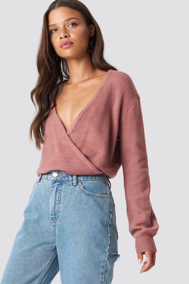 Dunkelroter Pullover Damen