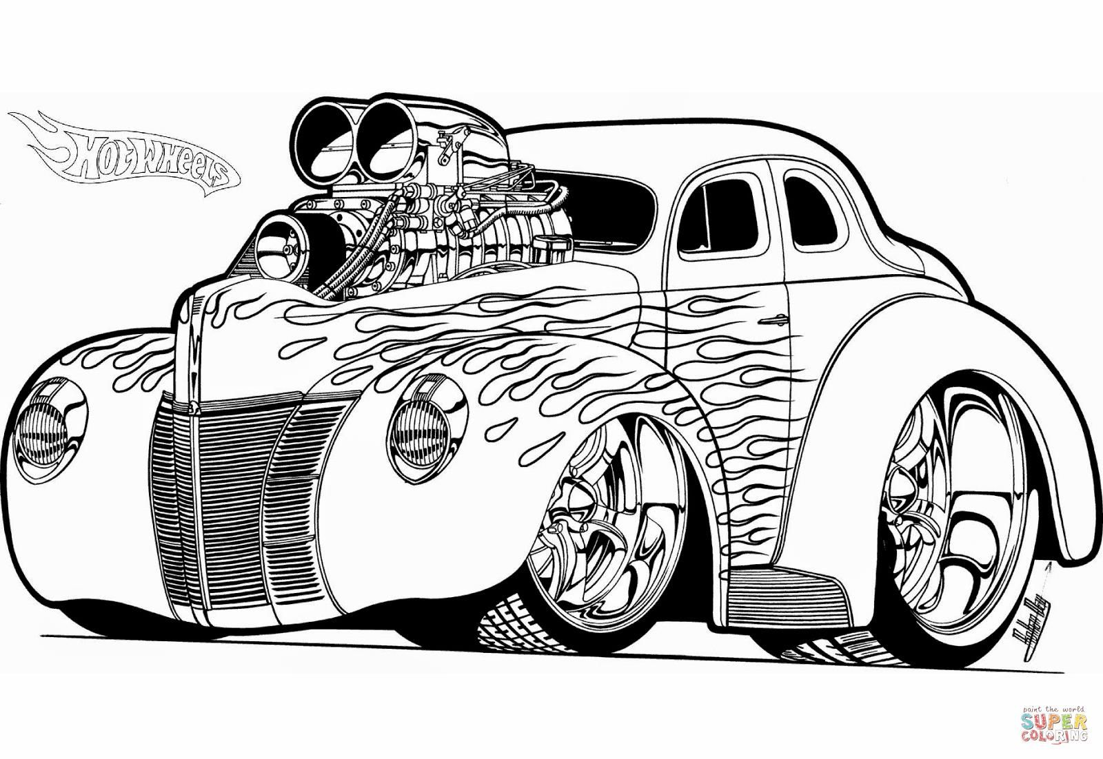 http://colorings.co/hot-rod-coloring-pages/ #Coloring, #Hot, #Pages ...