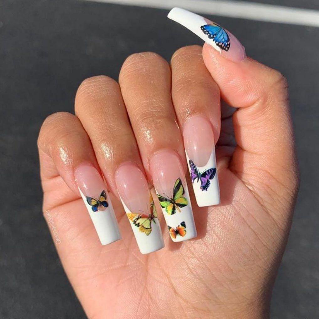 Long acrylic nails | Gold acrylic nails, Rose gold nails glitter, Long acrylic nails