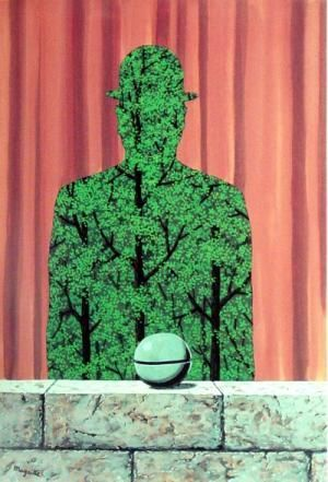 RENE MAGRITTE 1965 De man en het woud / L'Homme et la foret 🦄🐜🐜🦄🦄Rene Magritte  ( 1898 - 1967 ) More At FOSTERGINGER @ Pinterest🦀🦀🐛🕷🐝🐤🐍
