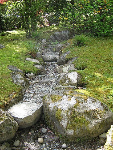japanese garden dry streambed