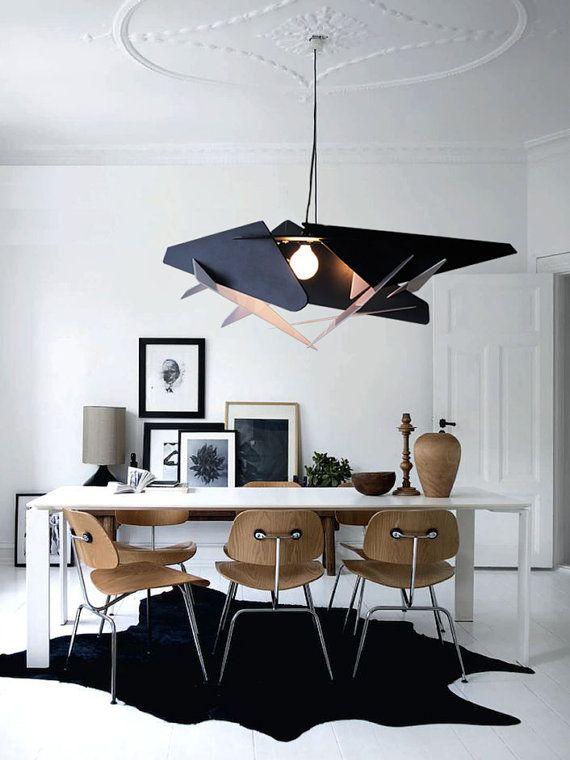 wood pendant light lasercut chandelier lamp handmade plywood hanging rh pinterest com