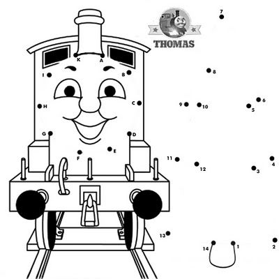 thomas connect the dots - Fun Printable Activities For Kids