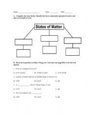 States of Matter Reading Comprehension