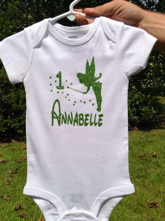 Tinkerbell first birthday Tinkerbell birthday shirt disney shirt, Tinkerbell Birthday bodysuit Fairy birthday shirt