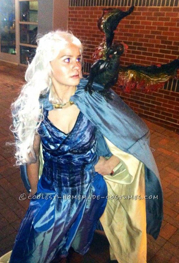 Elaborate Khaleesi u2013 Queen of Dragons Costume... Coolest Halloween Costume Contest  sc 1 st  Pinterest & Elaborate Khaleesi - Queen of Dragons Costume | Pinterest | Dragon ...