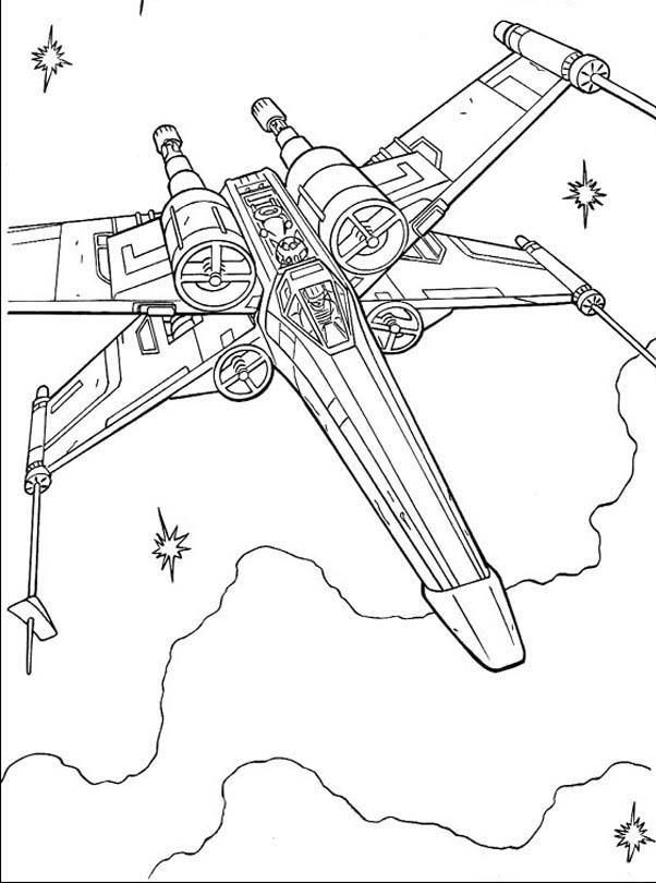 Fighter Star Wars Coloring Pages | Ethan\'s Birthday parties ...