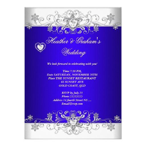 royal blue wedding silver diamond