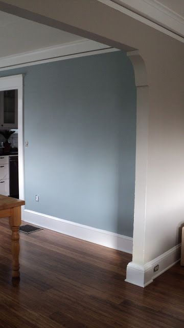 Living In The Rain Garden: The Living Room Is Painted!   Sherwin Williams  Amazing Grey   Benjamin Moore Mount Saint Anne   Blue Grey Love The Paint  Color ...