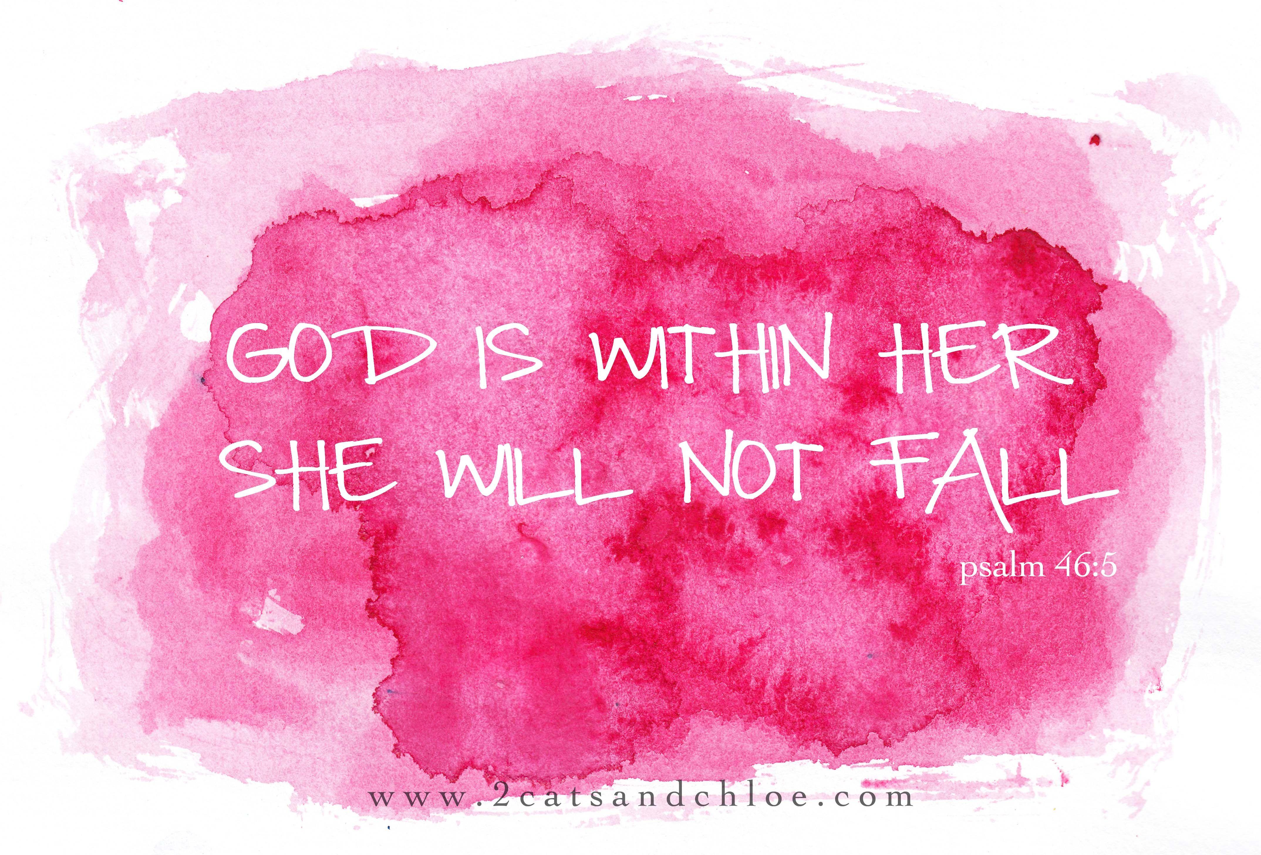 2 Cats Chloe Watercolor Psalm 46 5 Bible Verse Desktop Wallpaper Wallpaper Bible Desktop Wallpaper Quotes
