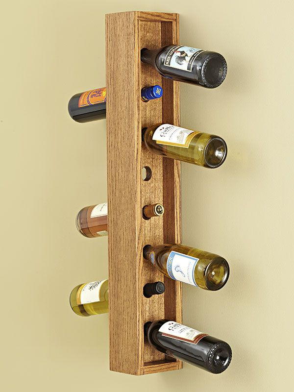 Wall-hung Wine Rack woodworking plan: This easy-to-build wall ...